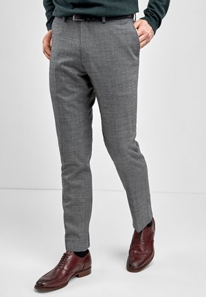 SIGNATURE WOOL BLEND STRETCH FLANNEL  - Suit trousers - grey