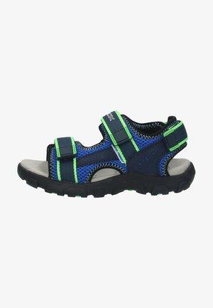 Walking sandals - blue/fluo green c4457