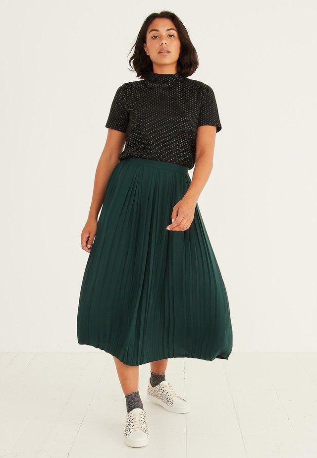 PANLIMA - Pleated skirt - green