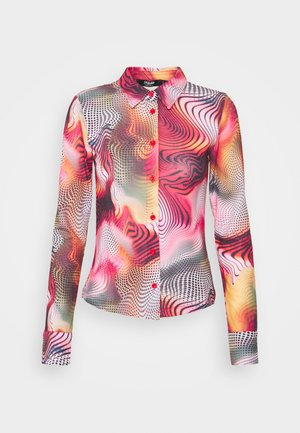 FITTED 90'S SHIRT IN SWIRL - Long sleeved top - orange/red/multi
