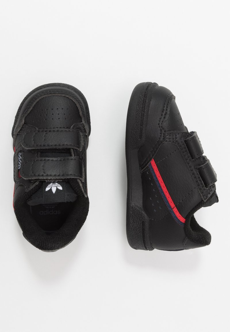 adidas Originals - CONTINENTAL 80  - Baskets basses - core black/scarlet
