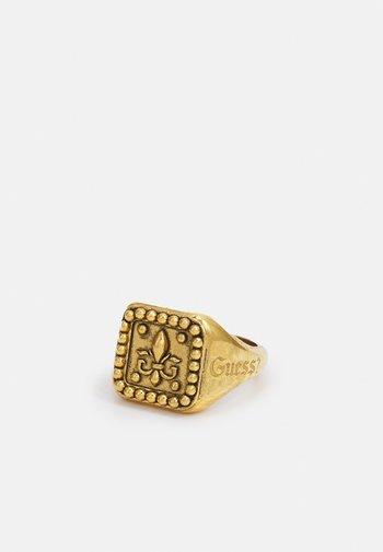 SQUARED SIGNET GIGLIO - Sormus - antique gold-coloured