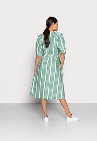 esmé studios - WRAP AROUND DRESS - Day dress - frosty spurce/snow white - 2