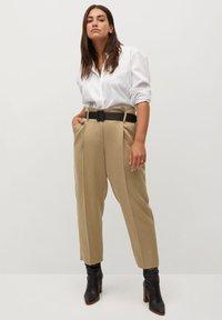 Violeta by Mango - FAST - Trousers - beige - 1