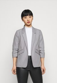 Dorothy Perkins Petite - ROUCHED SLEEVE - Blazer - dark grey - 0