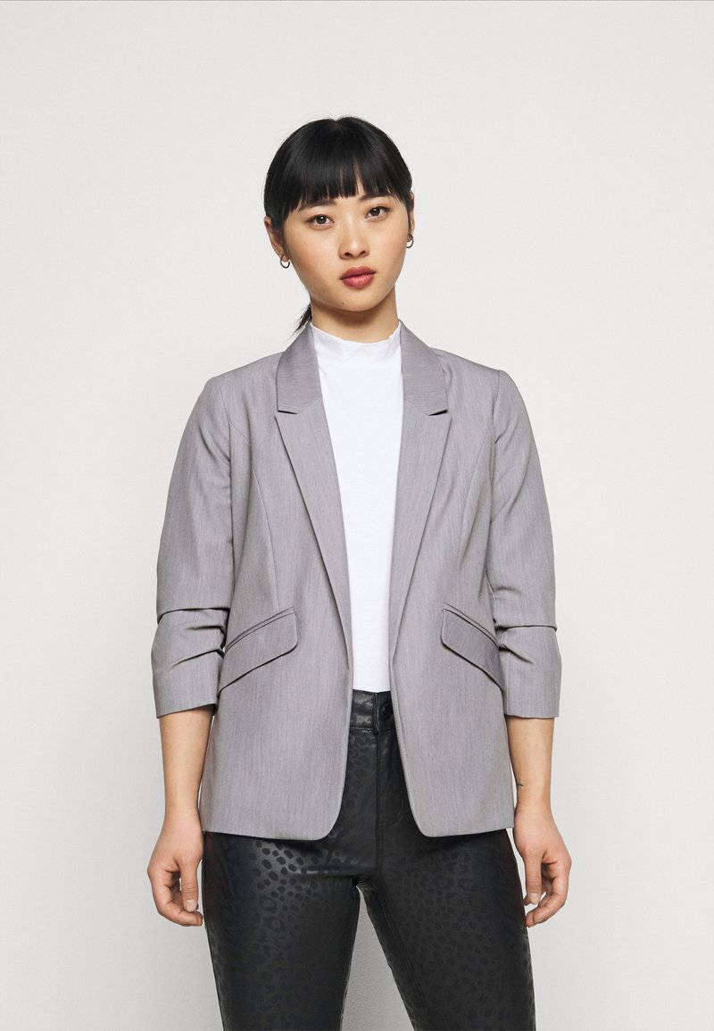 Dorothy Perkins Petite - ROUCHED SLEEVE - Blazer - dark grey