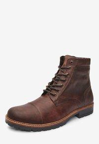 Next - BROWN LEATHER ZIP BOOTS - Šněrovací kotníkové boty - brown - 2