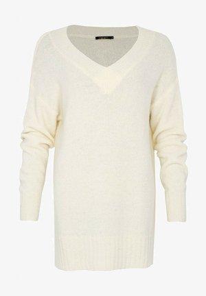 ANNIE V NECK - Stickad tröja - off white