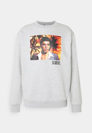 SCARFACE PALM PHOTO CREW - Sweater - mottled grey