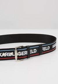 KARL LAGERFELD - WEBBING HIP BELT - Pásek - black - 4
