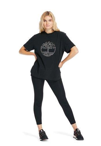 OVERSIZE IRIDESCENT - Print T-shirt - black