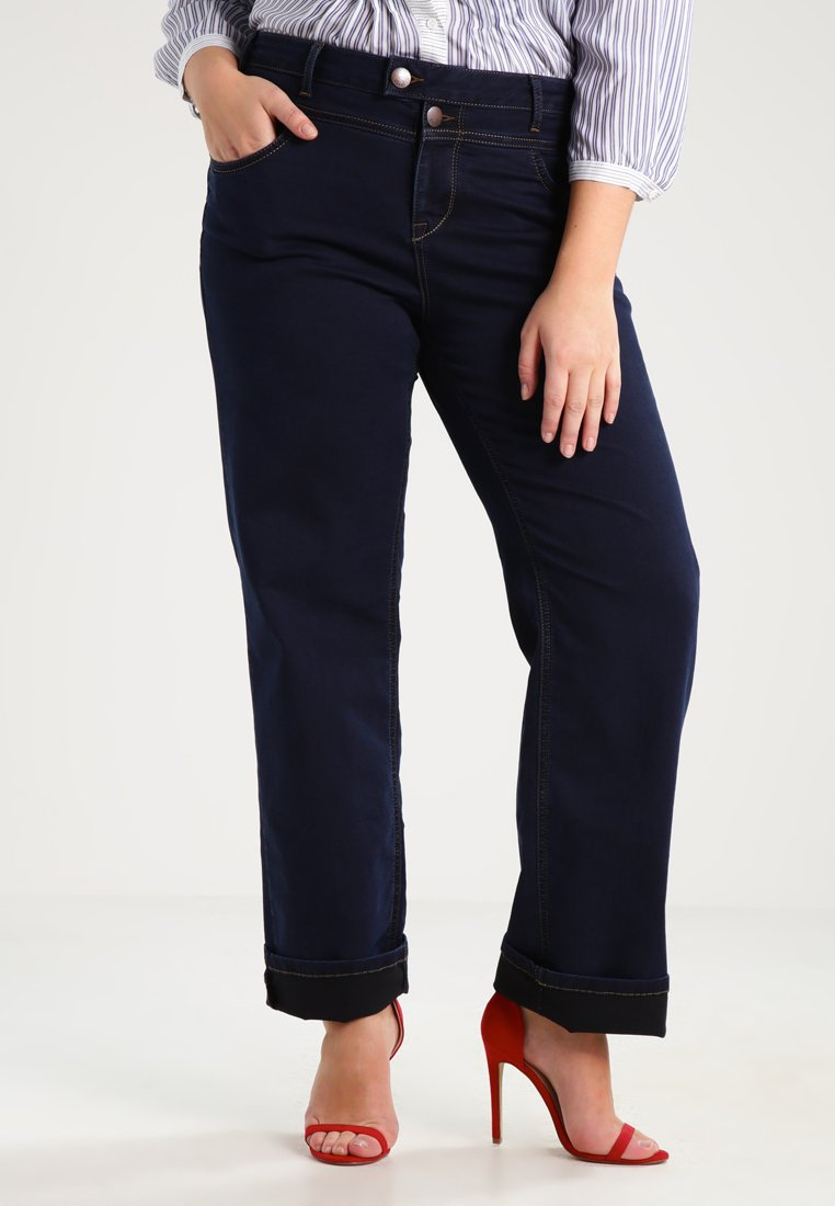 Zizzi - GEMMA - Straight leg jeans - blue denim