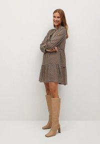 Mango - VIENA - Shirt dress - beige - 1
