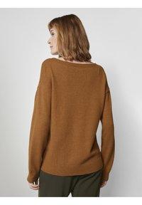 TOM TAILOR - Jumper - tawny brown melange - 2