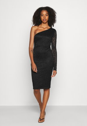ONE SLEEVE DRESS - Cocktail dress / Party dress - black