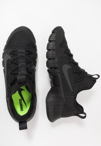 Nike Performance - FREE METCON 3 - Sports shoes - black/anthracite/volt - 1