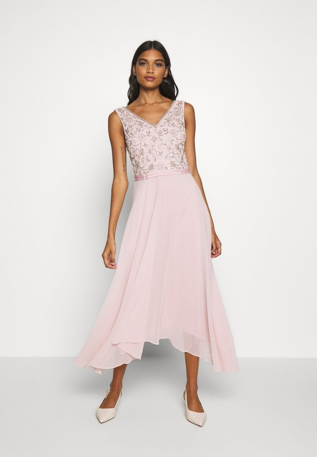 VALERIE BODICE MIDI DRESS - Iltapuku - blush