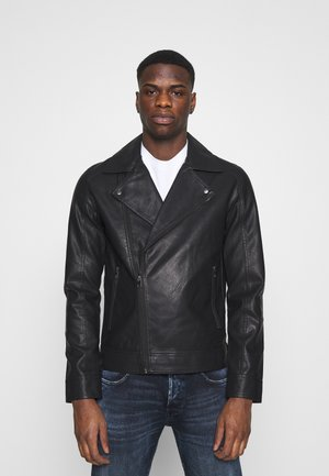 JORNOLAN BIKER JACKET - Giacca in similpelle - black