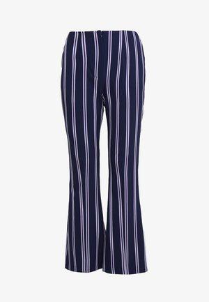 FLAUNT - Trousers - violet stripe