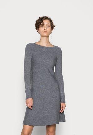 VMNANCY BOATNECK DRESS - Day dress - medium grey melange