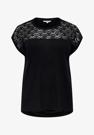 CARFLAKE MIX TOP NOOS - T-shirts med print - black