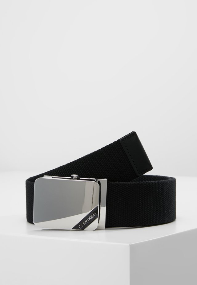 WEBBING PLAQUE BELT - Cintura - black