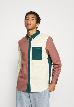 THREE COLOUR PANEL SHIRT - Overhemd - brown/green/beige