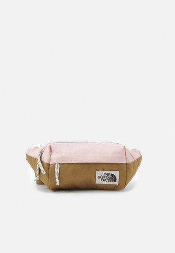 LUMBAR PACK - Bum bag - brown/light pink