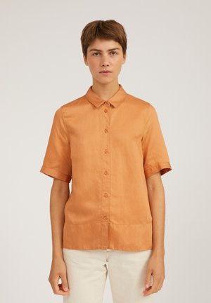 AAGAT - Button-down blouse - toasted hazel