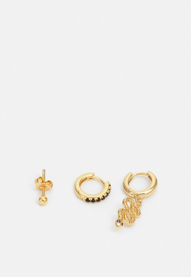 SNAKE EAR PARTY 3 PACK - Boucles d'oreilles - gold-coloured