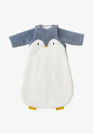 PINGUIN ÄRMEL ABNEHMBAR - Baby's sleeping bag - wollweiß/grau