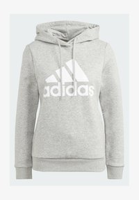 adidas Performance - ESSENTIALS LOGO FLEECE HOODIE - Felpa con cappuccio - grey - 6