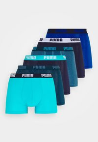 Puma - BASIC BOXER 6 PACK - Panties - denim/true blue/aqua /blue - 7
