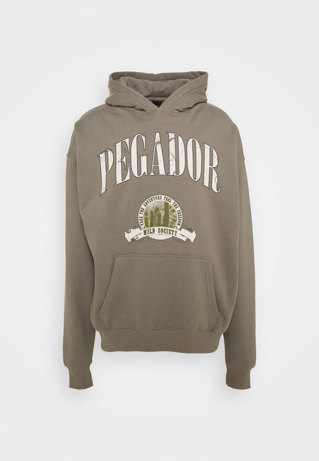 Hoodie - washed frost gray