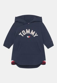 Tommy Hilfiger - BABY HOODED DRESS - Day dress - blue - 0