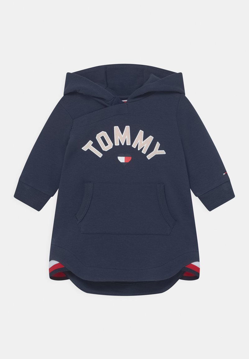 Tommy Hilfiger - BABY HOODED DRESS - Day dress - blue