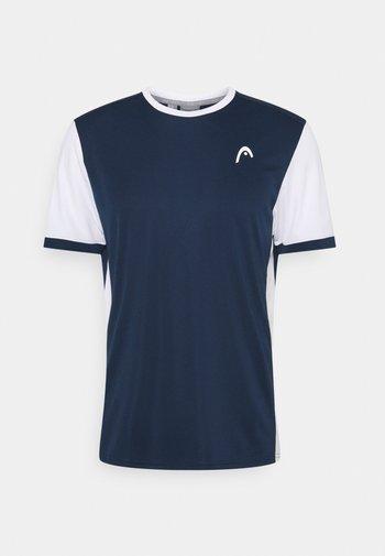 DAVIES  - T-shirt med print - dress blue/white