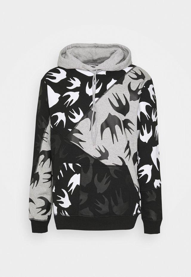 CUT UP HOOD - Sweater - black/grey