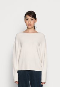 Marc O'Polo - LONGSLEEVE MODERN WIDE FIT RICE CORN STRUCTURE - Jumper - chalky sand - 0