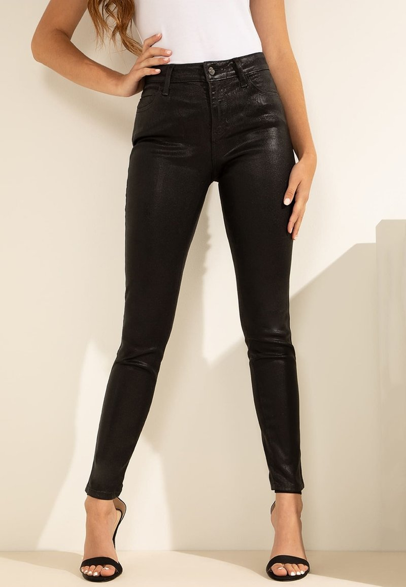Guess - Jeansy Skinny Fit - zwart