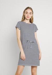 Vila - VIMOONEY STRING - Jersey dress - navy blazer/white - 0