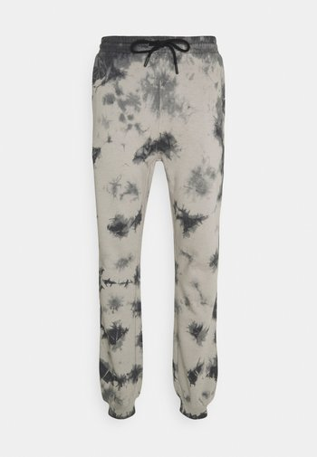 TIE DYE JOGGER UNISEX - Kalhoty - black/grey