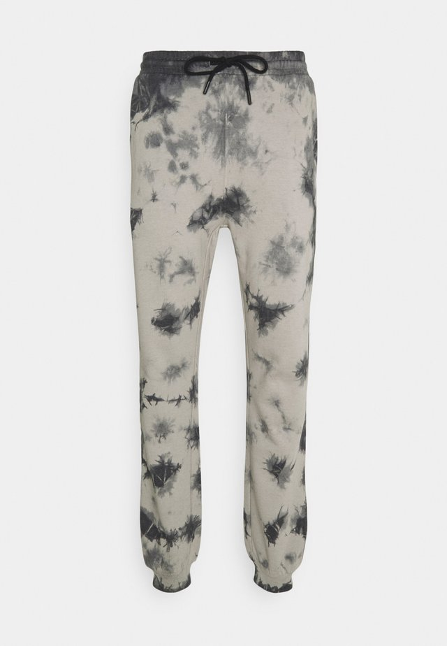 TIE DYE JOGGER UNISEX - Trousers - black/grey