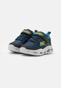 Skechers - VORTEX FLASH - Trainers - black/blue/lime - 1