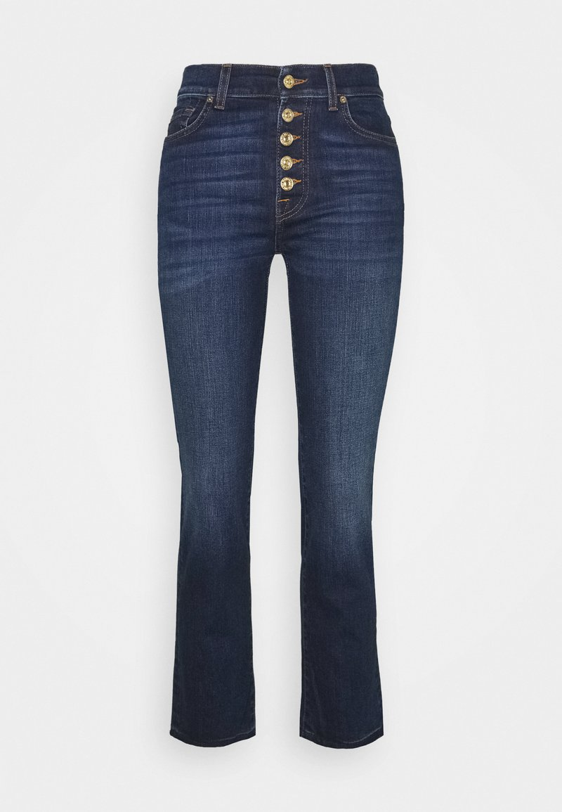 7 for all mankind THE CROP - Jeans Straight Leg - dark blue/dunkelblau spIMrQ