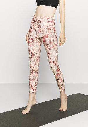 ECLIPSE ZIPPER POCKET PANT - Tights - burgundy