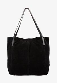 LEATHER - Shoppingväska - black