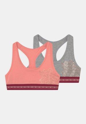 2 PACK - Bustier - rose corail/gris/bordeaux