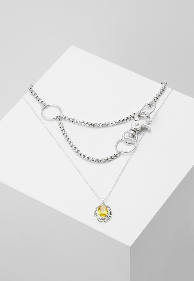 LAYERED CHAIN - Ketting - silver-coloured