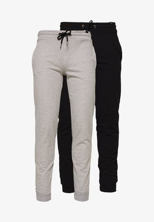 NEWPORT CORE 2 PACK - Tracksuit bottoms - black/grey marl